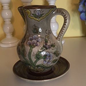 Jug & Plate Handcrafted in Columbia Pintado A Mano